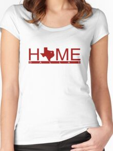 Dallas, Texas- HOME (RED) Women's Fitted Scoop T-Shirt