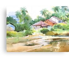 By the creek 1 Canvas Print