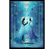 Silhouette Anna and Elsa Photographic Print