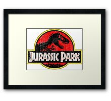 Jurassic Park Logo Grunge Framed Print