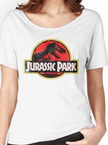 Jurassic Park Logo Grunge Women's Relaxed Fit T-Shirt