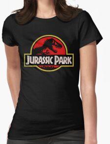 Jurassic Park Logo Grunge Womens Fitted T-Shirt