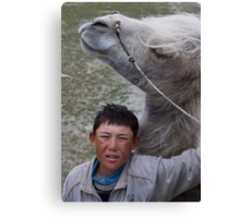 Kyrgyz cameleer boy Canvas Print