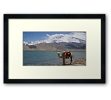 Phone coverage at Lake Kara Kul Framed Print