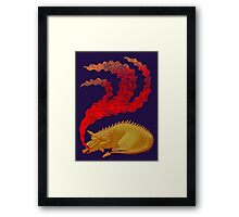 Snoring Dragon Framed Print