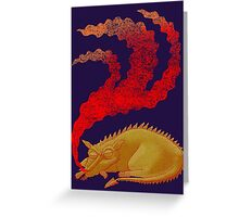 Snoring Dragon Greeting Card