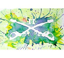Troopers Watercolor Logo Photographic Print