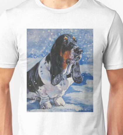 Basset Hound Fine Art Painting Unisex T-Shirt