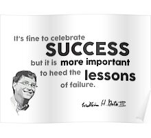 success and lessons - bill gates Poster