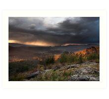 Storm from Keppels lookout Winter 2008 Art Print