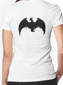 Dragon logo Women's Fitted V-Neck T-Shirt