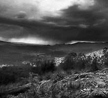 Storm from Keppels lookout Winter 2008, Monochrome by Vicki Moritz