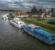 River Bure and Bridge Inn, near Acle, Norfolk Broads by Stephen Hall