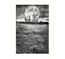 COLD NIGHTS UNDER THE HARVEST MOON Art Print
