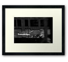 Zed is for Zegna - Sydney - Australia Framed Print