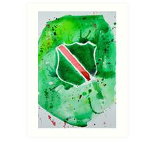 Santa Clara Vanguard Watercolor Logo Art Print