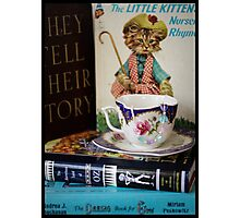 Children's Books and Tea Photographic Print