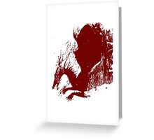 Dragon Grunge Greeting Card