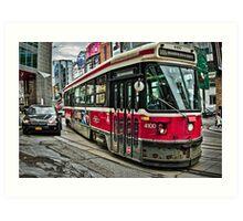 Toronto Street Car Art Print