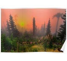 Buck Mountain Glow Poster