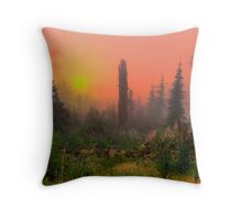 Buck Mountain Glow Throw Pillow