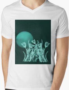 Silky moonlight flower Mens V-Neck T-Shirt