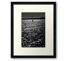 Wind Surfing - West Kirby Marine Lake  Framed Print