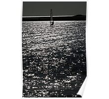 Wind Surfing - West Kirby Marine Lake  Poster