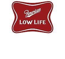 American Low Life Beer Logo Parody Photographic Print