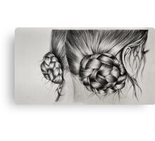 Braids in buns Canvas Print