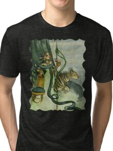 Woman With Tiger and Chair Tri-blend T-Shirt