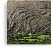Mountain waves Canvas Print
