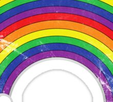 Double Rainbow: Rainbow-Dirty Logo Sticker