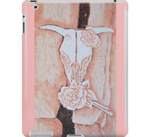 after Georgia O'Keeffe's Cow's Skull with Calico Roses  iPad Case/Skin