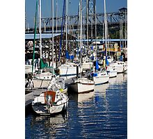Sail Boats at rest Photographic Print