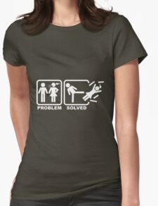 Problem Solved Womens Fitted T-Shirt