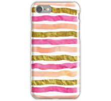Watercolor hand drawn peach pink gold iPhone Case/Skin