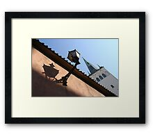 Looking up to the St Olaf's Church Framed Print