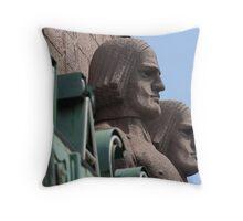 Masculine Nordic Sculpture in Helsinki Throw Pillow