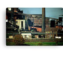 Rheinhausen steel works in early 1980s, Germany. Canvas Print