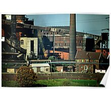 Rheinhausen steel works in early 1980s, Germany. Poster