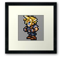 Cloud Strife Sprite - FFRK - Final Fantasy VII (FF7) Framed Print