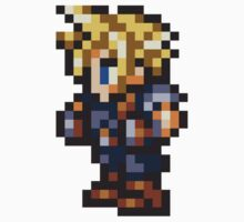 Cloud Strife Sprite - FFRK - Final Fantasy VII (FF7) Kids Tee