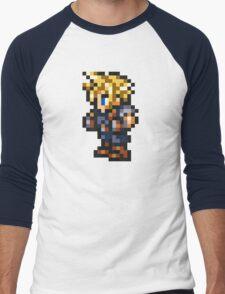 Cloud Strife Sprite - FFRK - Final Fantasy VII (FF7) Men's Baseball ¾ T-Shirt