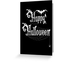 Happy Halloween Rococo Typography Greeting Card ~ Black & White Version  Greeting Card