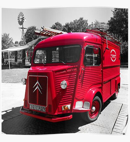 Old French Citroen Fire Engine Poster