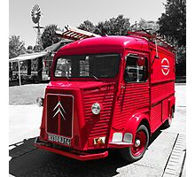 Old French Citroen Fire Engine Photographic Print