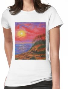 sky in fire Womens Fitted T-Shirt