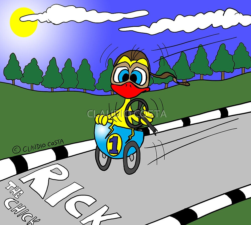 """Rick the chick """"FORMULA 1"""" by CLAUDIO COSTA"""