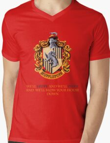 We'll Huff and We'll Puff and We'll Blow Your House Down Mens V-Neck T-Shirt